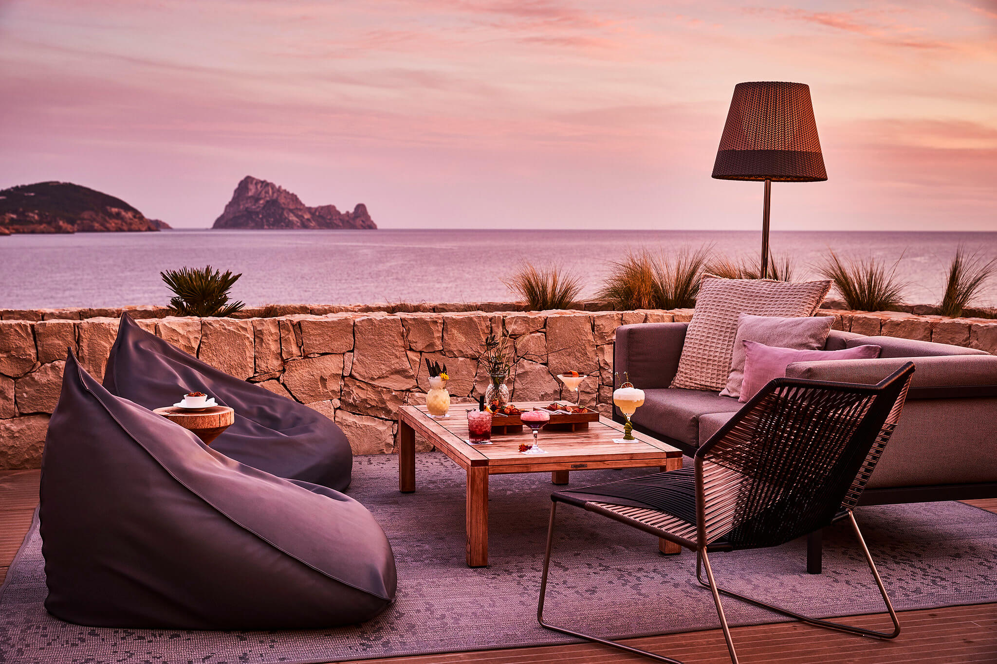Pershing Yacht Terrace at 7Pines Kempinski Ibiza
